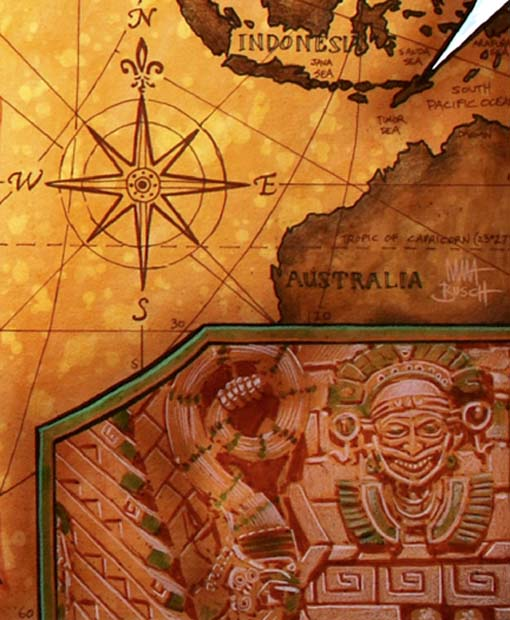Indiana Jones - Mapa das descobertas | Indiana Jones World Map
