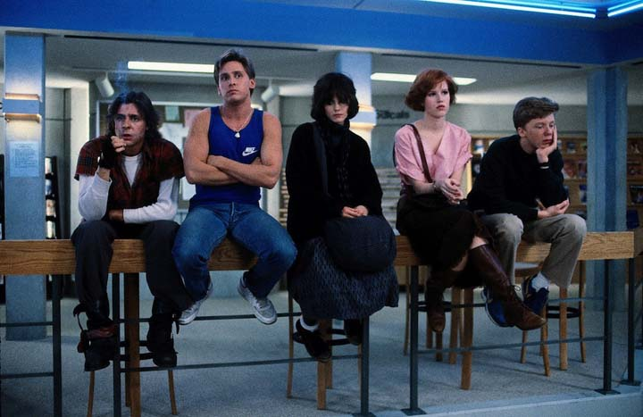 the breakfast club - clube dos cinco - john hughes