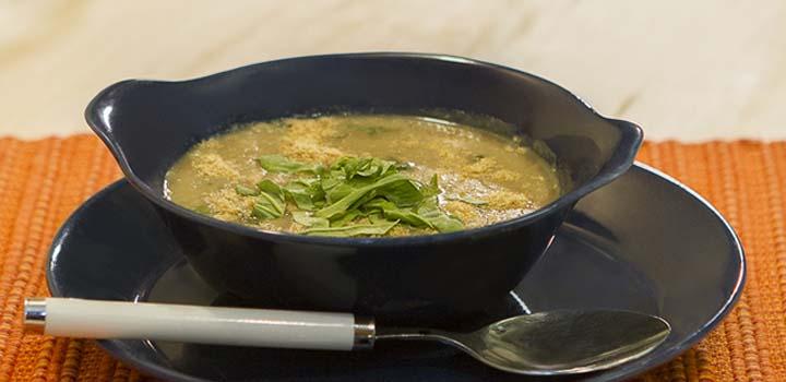 Receita Sopa de Inhame