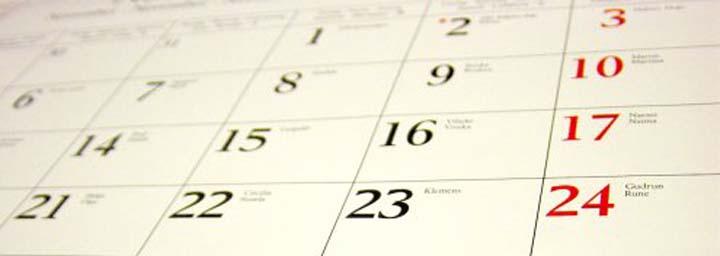 calendario feriados datas comemorativas 2016