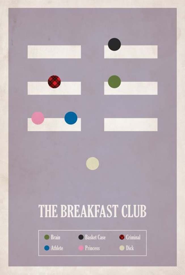 posters alternativos de Breakfast Club