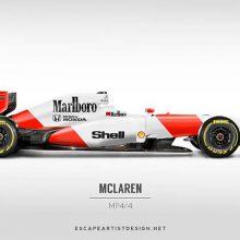 Como seriam os carros atuais da F1 com as pinturas antigas?