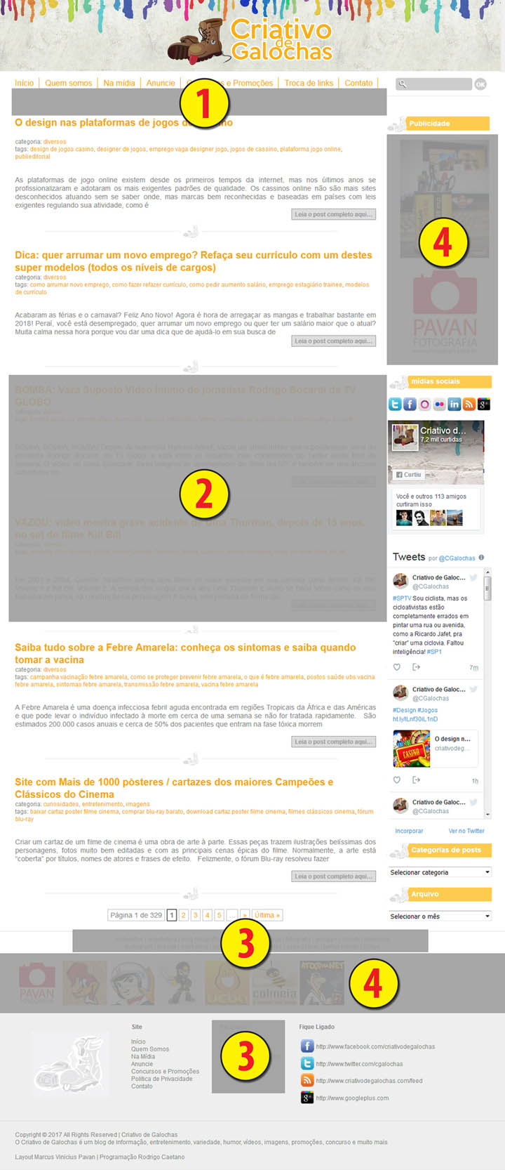 Espaço para plublicidade blog Midia Kit Locais Veiculacao banner