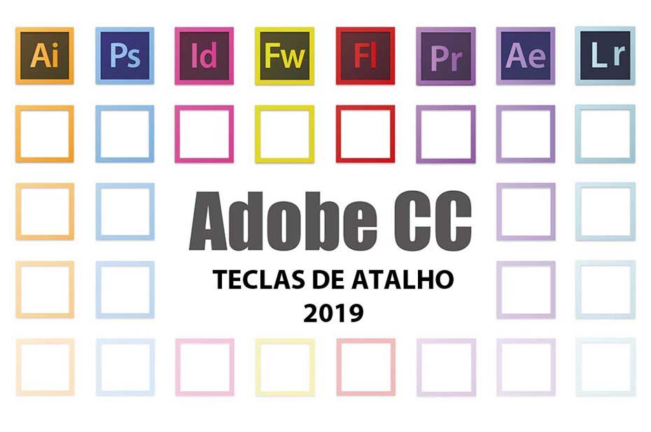 Atalhos Teclas Adobe Creative 2019
