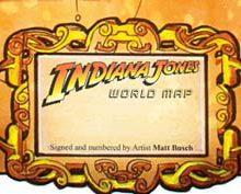 Mapa com todas as descobertas arqueológicas de Indiana Jones - Indiana Jones World Map