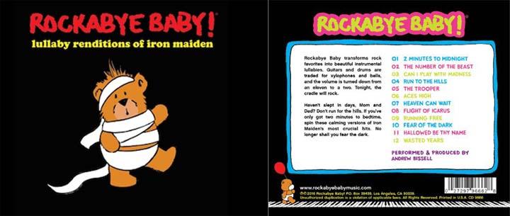 CD Rockabyebaby Iron Maiden