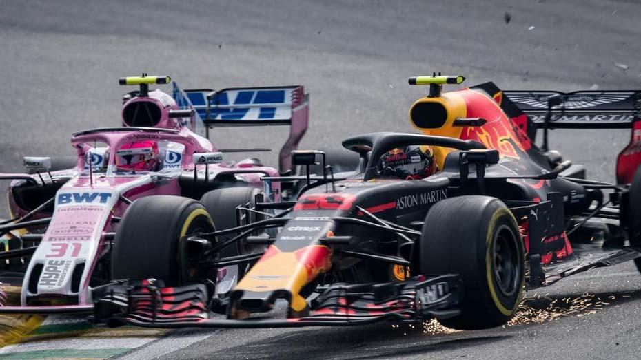 Briga Verstappen Ocon GP Brasil F1 2018